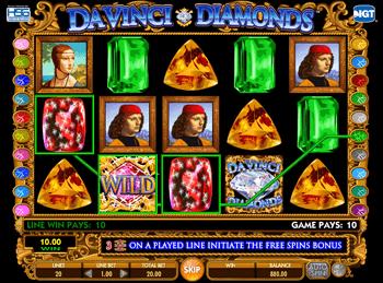 Игровой автомат Da Vinci Diamonds: Dual Play - фото № 1