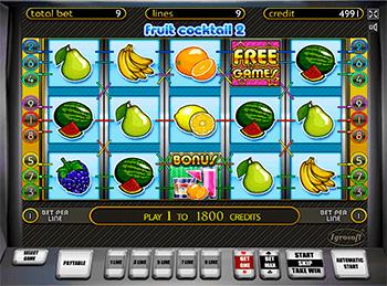Игровой автомат Fruit Cocktail 2 - фото № 1