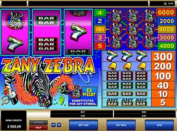Игровой автомат Zany Zebra - фото № 4