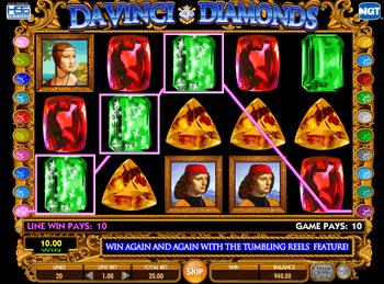 Игровой автомат Da Vinci Diamonds: Dual Play - фото № 2