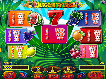 Игровой автомат Juice'n'Fruits - фото № 6