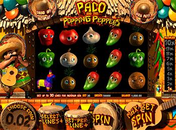 Игровой автомат Paco And Popping Peppers - фото № 1